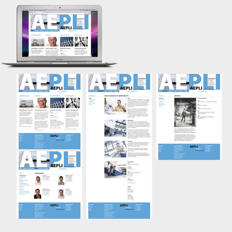 Aepli Metallbau Webseite
