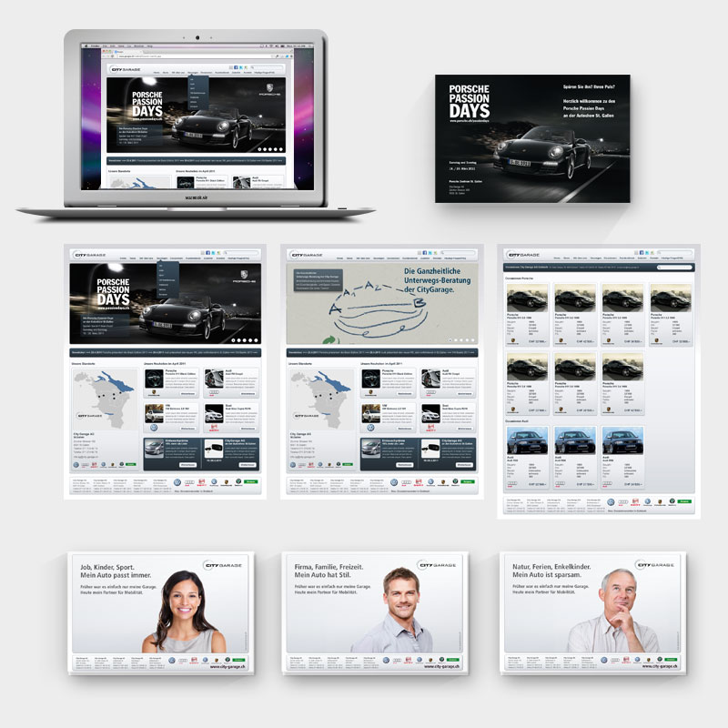 City Garage Webseite und Kampagne