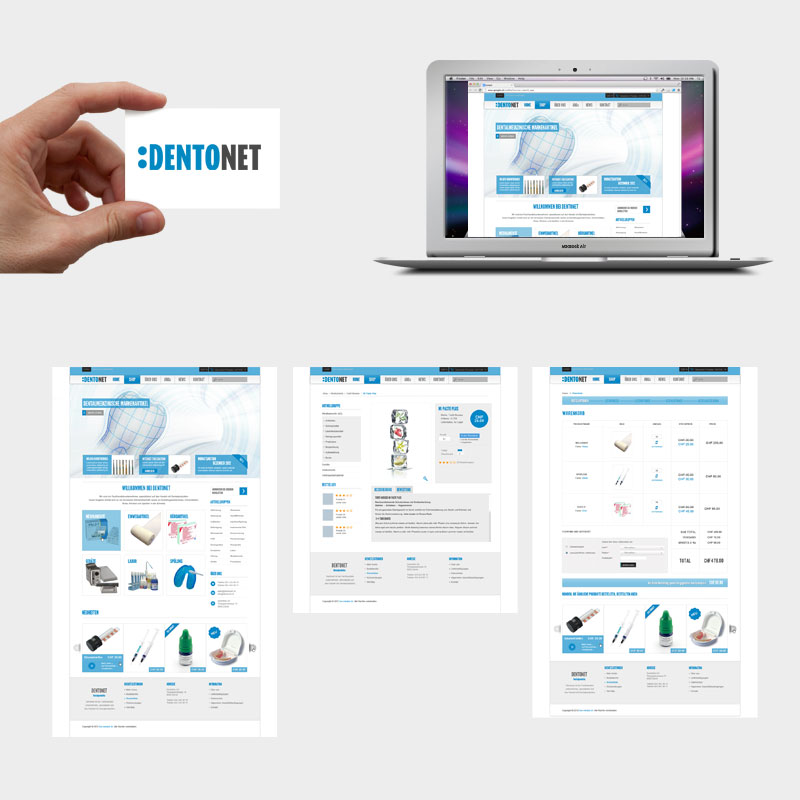 Dentonet Corporate Design und Webseite