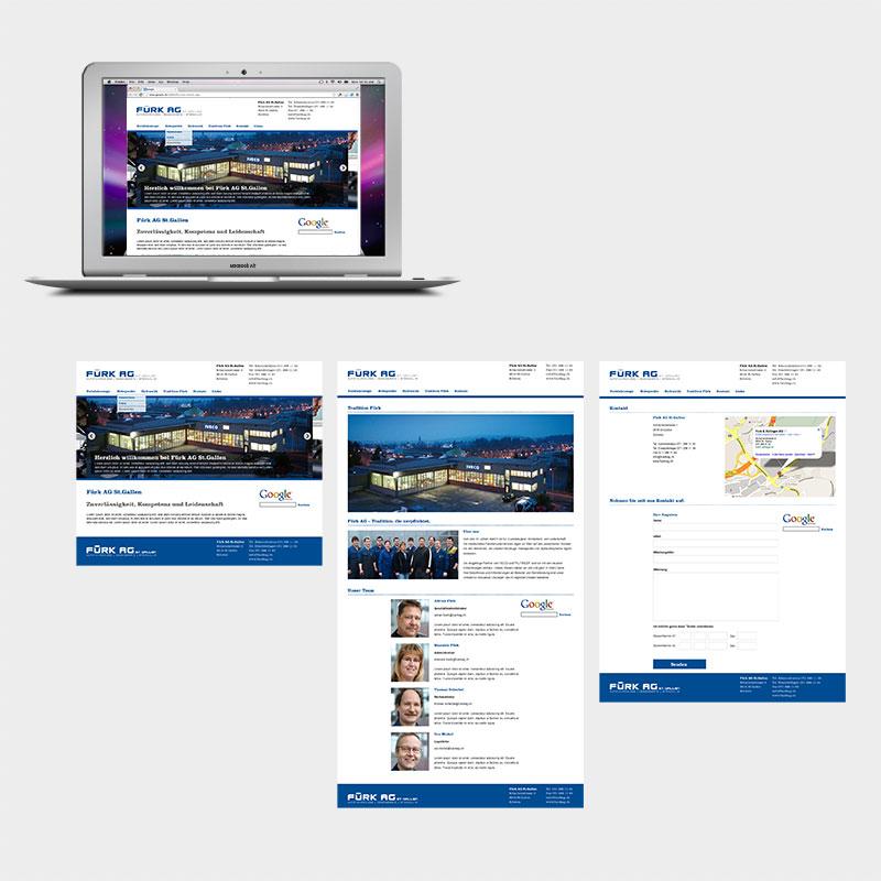 Fürk AG Webseite