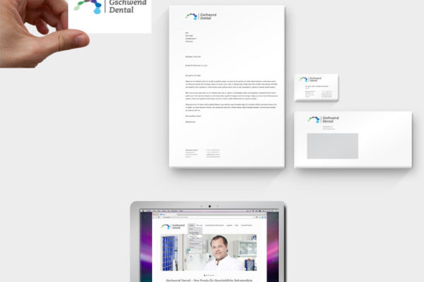 Gschwend Dental Corporate Design und Webseite