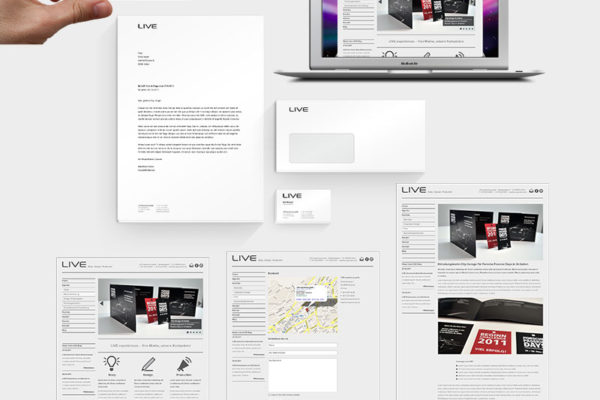 LIVE experiences Corporate Design