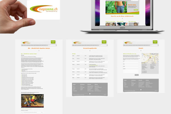 Megasana Corporate Design und Webseite