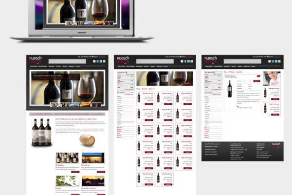 Nüesch Weine Webseite