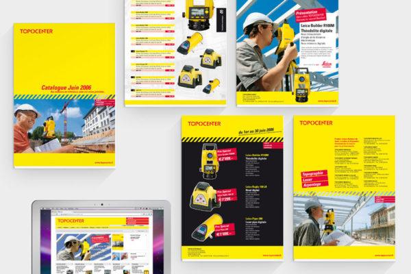 Topocenter Printunterlagen und Webseite